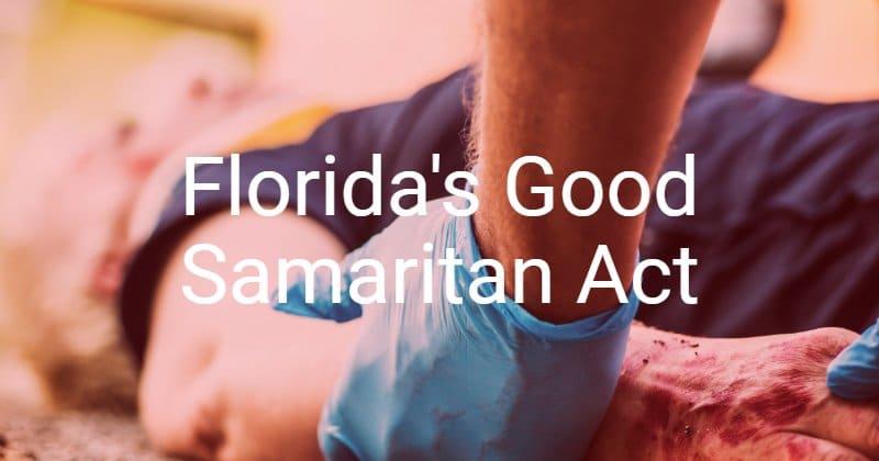 A good Samaritan administering aid to an injured person